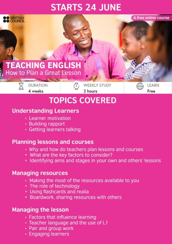 Free Online Course Teaching English How To Plan A Great